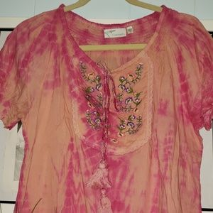 Tie die blouse